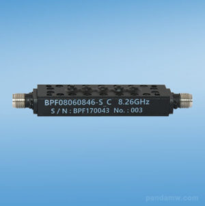 BPF08060846-S_C 8.06-8.46 GHz Band Pass Filter