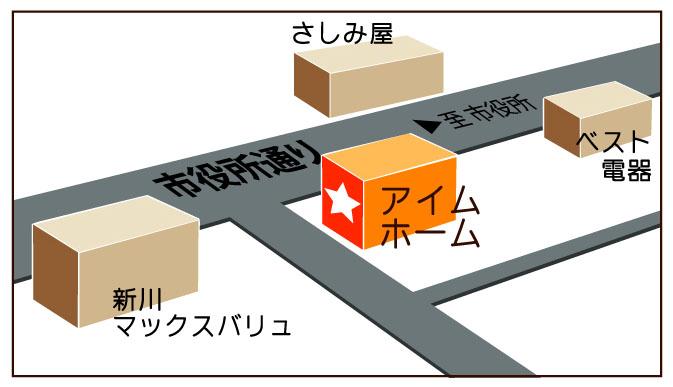 アイムホーム石垣島の地図