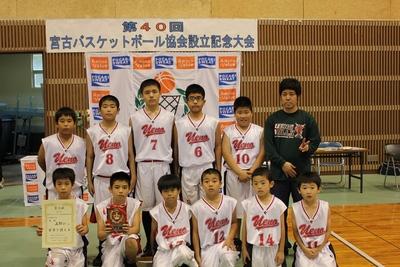 小学男子 優勝:上野小学校