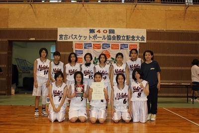 中学女子 優勝:西辺中学校