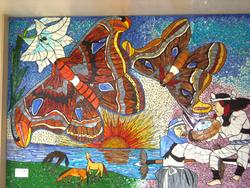 アヤミハビル館の壁画